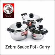 image of (100% Original) Zebra Stainless Steel Sauce Pot - Carry (20/22/24/26/28/30cm)