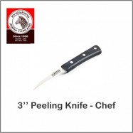 "image of (100% Original) Zebra Stainless Steel 3"" Peeling Knife - Chef"