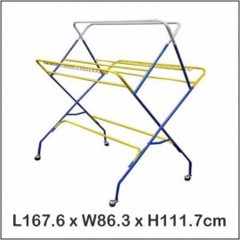 image of Outdoor Indoor Clothes Hanger/ Drying Rack / Towel Rack / Penyidai Baju W888
