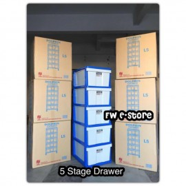 image of Twins Dolphin 5 Stage Plastic Drawer / Plastic Cabinet / Storage Cabinet