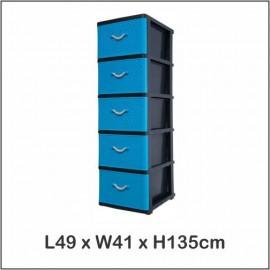 image of Century 5 Tier Plastic Drawer / Cloth Cabinet / Storage Cabinet B9750