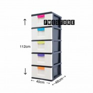 image of Century 5 Tier Plastic Drawer / Plastic Cabinet / Storage Cabinet B3150