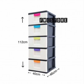 image of Century 5 Tier Plastic Drawer / Plastic Cabinet / Storage Cabinet B3150