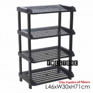 image of Century 4 Tier Shoe Rack / Shoe Storage / Shelf Storage 2288-A