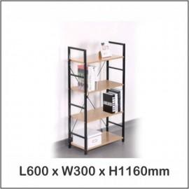 image of Multi Purpose Shelf 4 Tier / Living Room Shelf / Bookshelf 1502