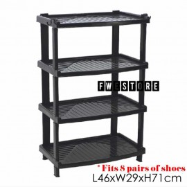 image of Century 4 Tier Shoe Rack / Shoe Storage / Shelf Storage 2288-B