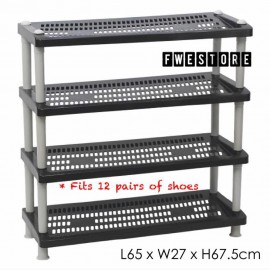 image of Century 4 Tier Shoe Rack / Shoe Storage / Shelf Storage 2289-B