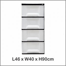 image of Century 4 Tier Plastic Drawer / Cloth Cabinet / Storage Cabinet 1740