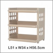 image of Century Multi Purpose Plastic Wide Rack (3 Tier)
