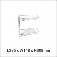 image of Harmoni Stainless Steel Multi Purpose Rack / Dish Rack / Shampoo Rack