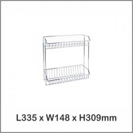 image of Harmoni Stainless Steel Multi Purpose Rack / Dish Rack / Shampoo Rack