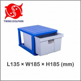 image of Twins Dolphin 1 Stage Plastic Drawer / Plastic Cabinet / Storage Cabinet