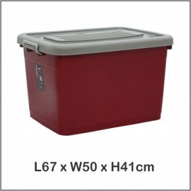 image of Century Silver Cover Storage Box 7999SC (80 Litres)