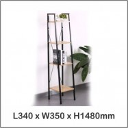 image of Multi Purpose Shelf 4 Tier / Living Room Shelf / Bookshelf 1500