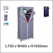 image of Zip Wardrobe / Fabric Wardrobe / Cloth Storage 9162 (Color Box)