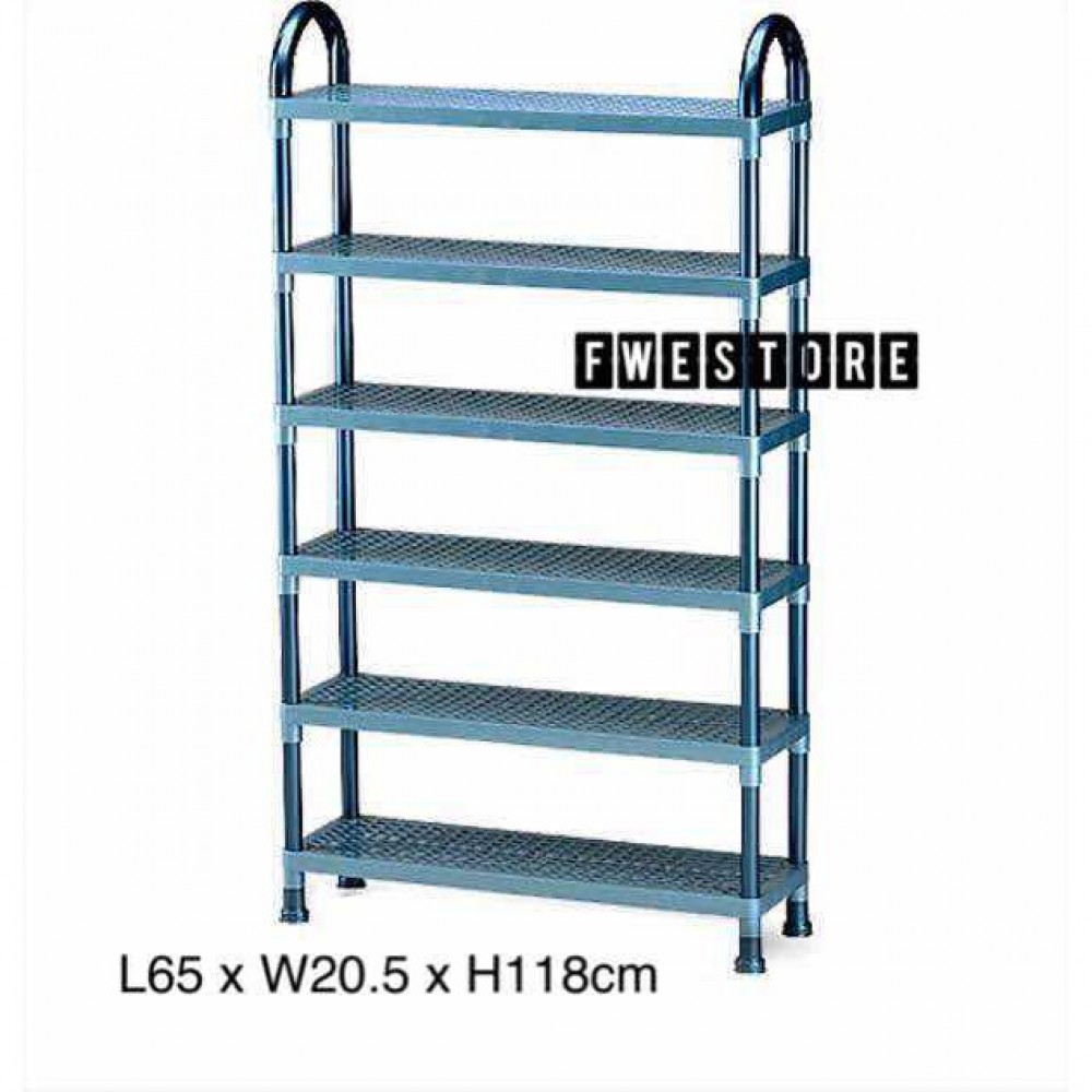 Lion Star Shelf Stand 6 Tier / Shoe Rack / Bookshelf / Document Rack A-49