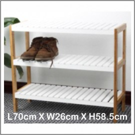 image of Shoe Rack Bamboo With MDF