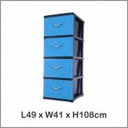 image of Century 4 Tier Plastic Drawer / Cloth Cabinet / Storage Cabinet B9740