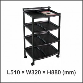 image of Twins Dolphin N4 Stage Shoe Rack (Without Wheels)