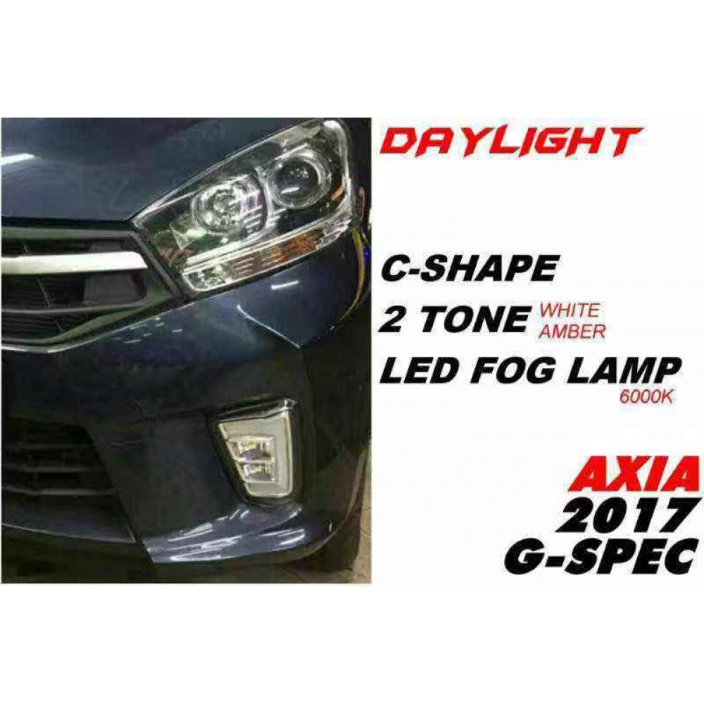 Perodua Axia 2017 G Spec Daylight Fog Lamp Signal Led