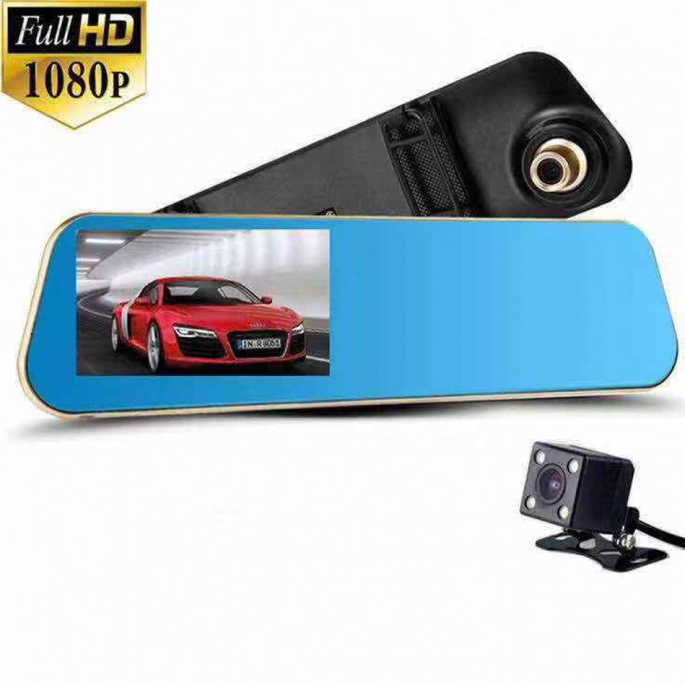 【Ready Stock】 Full HD 1080P Dual Lens Rear View Video Car Cam Recorder