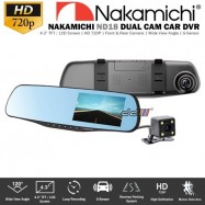 """image of 【Ready Stock】NAKAMICHI ND18 4.3"""" LCD Dual Cam 720p HD Car Dash Video Driving Recorder DVR"""