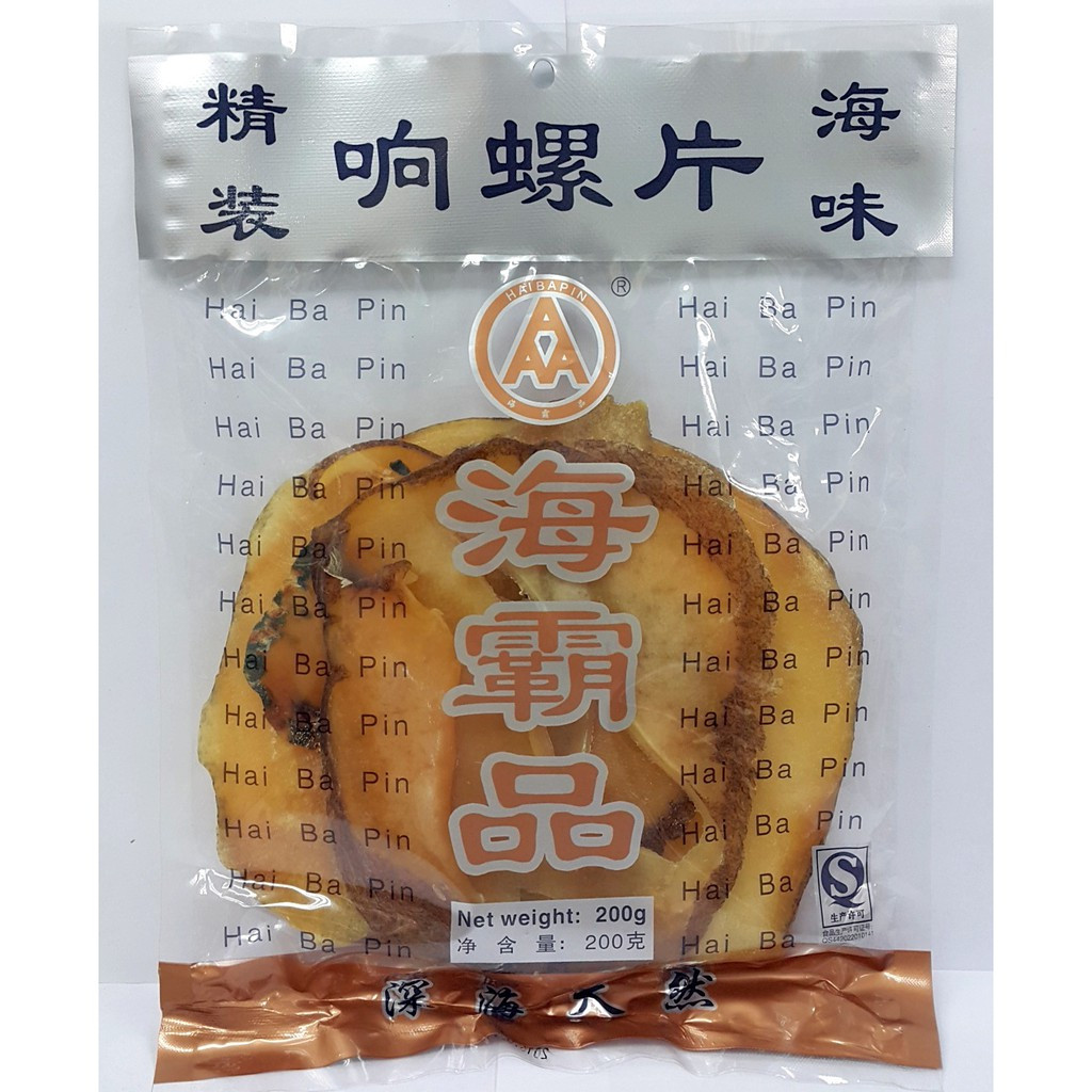 image of HAI BA PIN Dried Sliced Whelk Conch Slices响螺片 200G