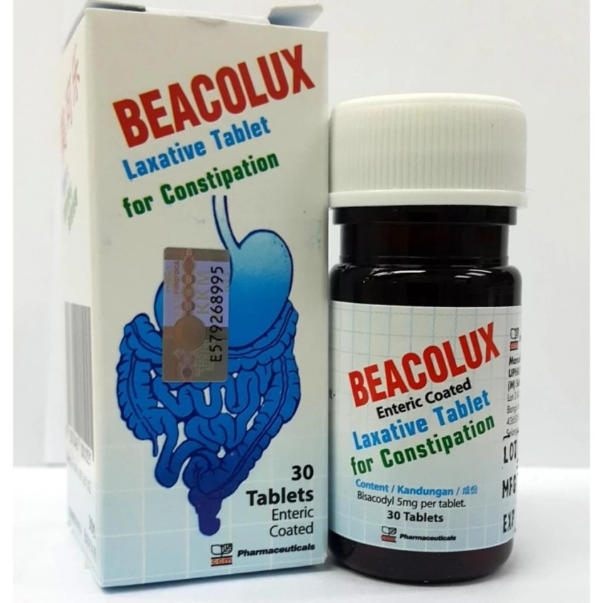 image of BEACOLUX LAXATIVE TABLET FOR CONSTIPATION(30 TABLETS)