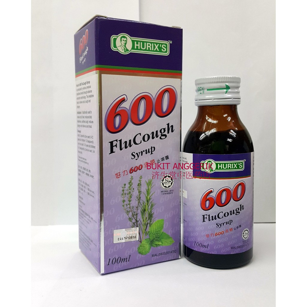 image of Hurix's 600 Flu Cough Syrup(100ml)
