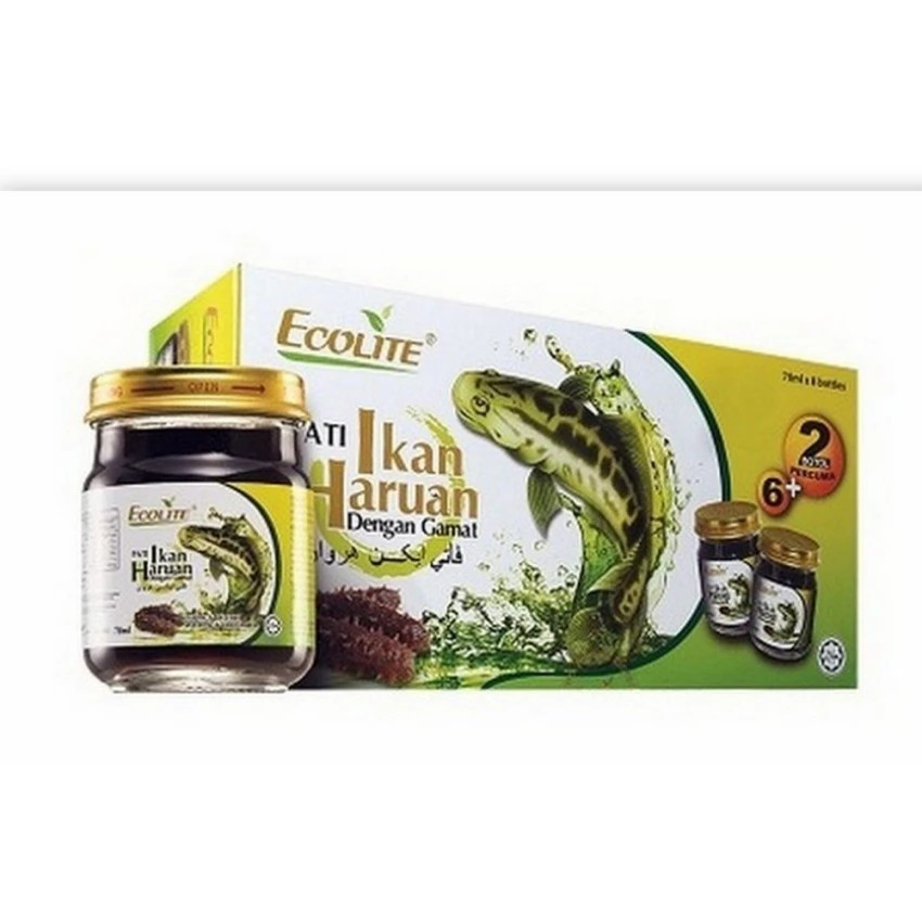 image of ECOLITE ESSENCE OF FISH WITH SEA CUCUMBER (70ML X 8 BOTTLES)