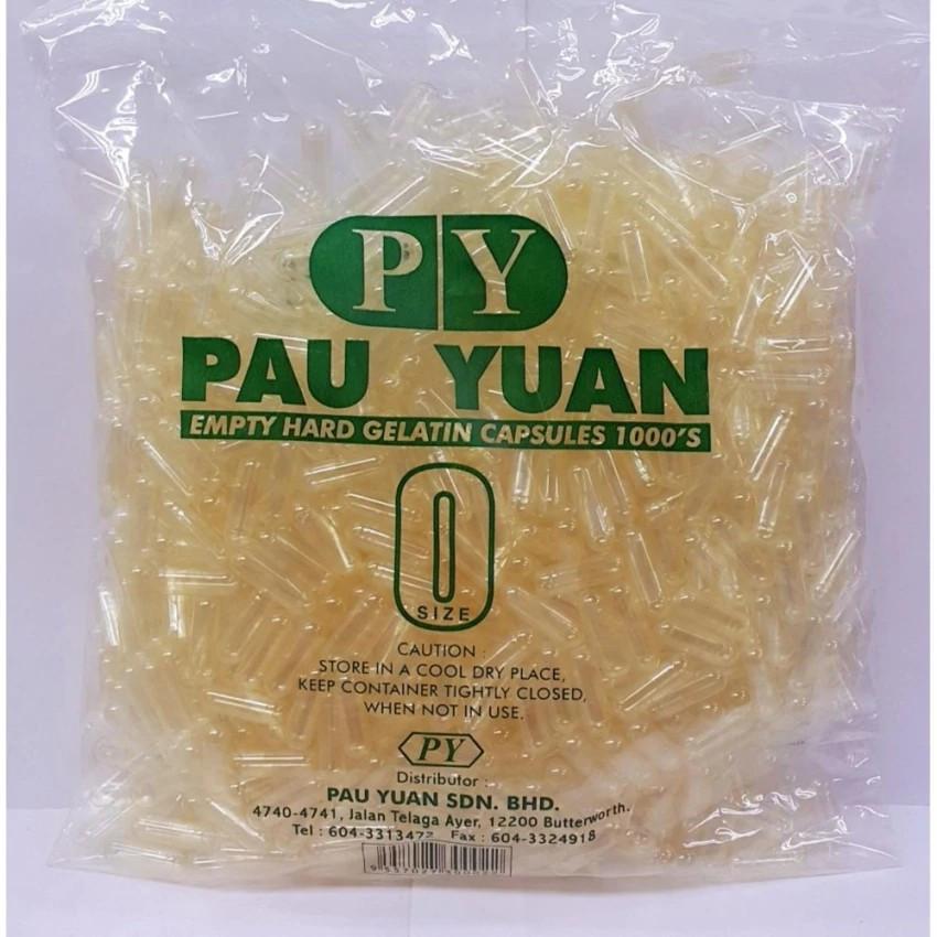 image of PAU YUAN EMPTY HARD GELATIN CAPSULES 1000'S(0 SIZE)