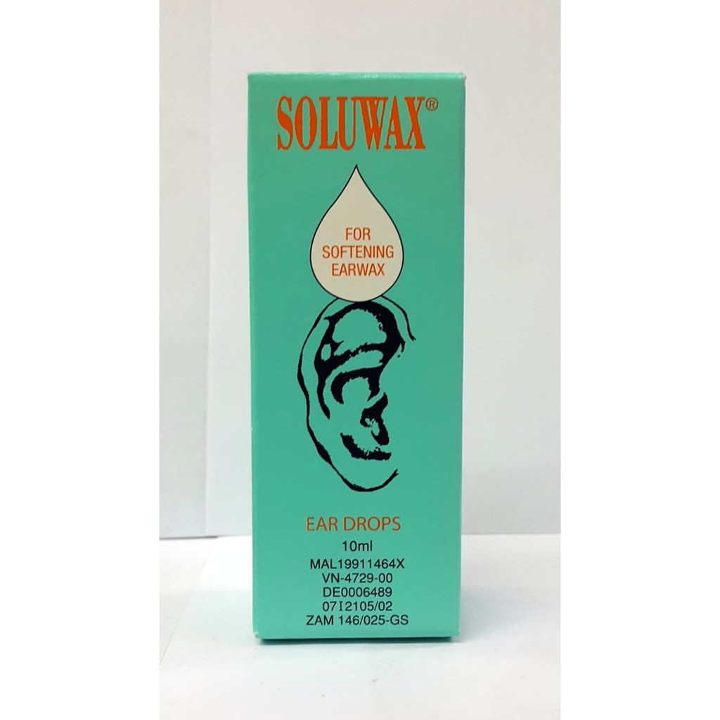 image of SOLUWAX EAR DORPS(FOR SOFTENING EARWAX)10ML