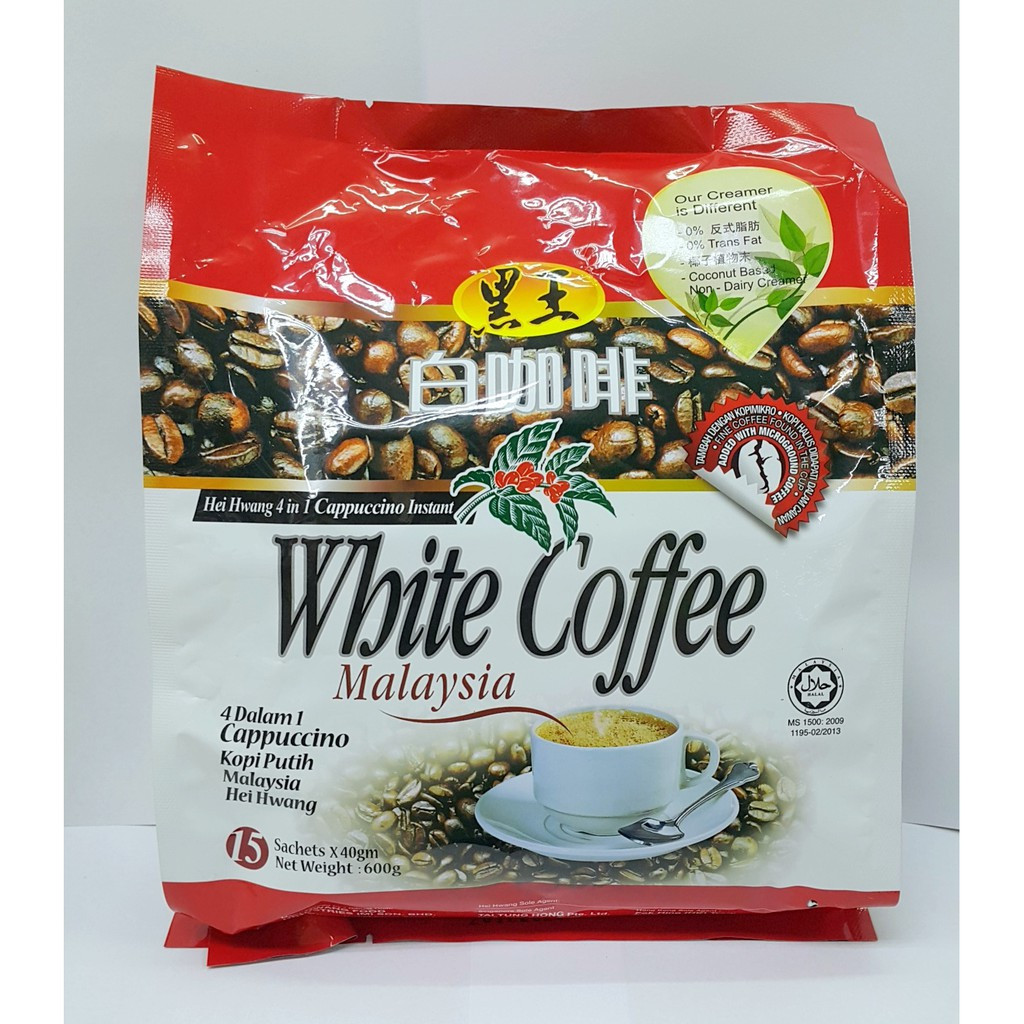 image of Hei Hwang 4in1Cappuccino White Coffee 4合1卡布奇诺白咖啡 600g