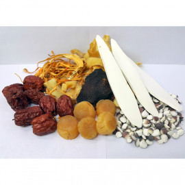 image of Scallop Semen Euryales Herbal Soup珧柱芡實玉竹湯 85G