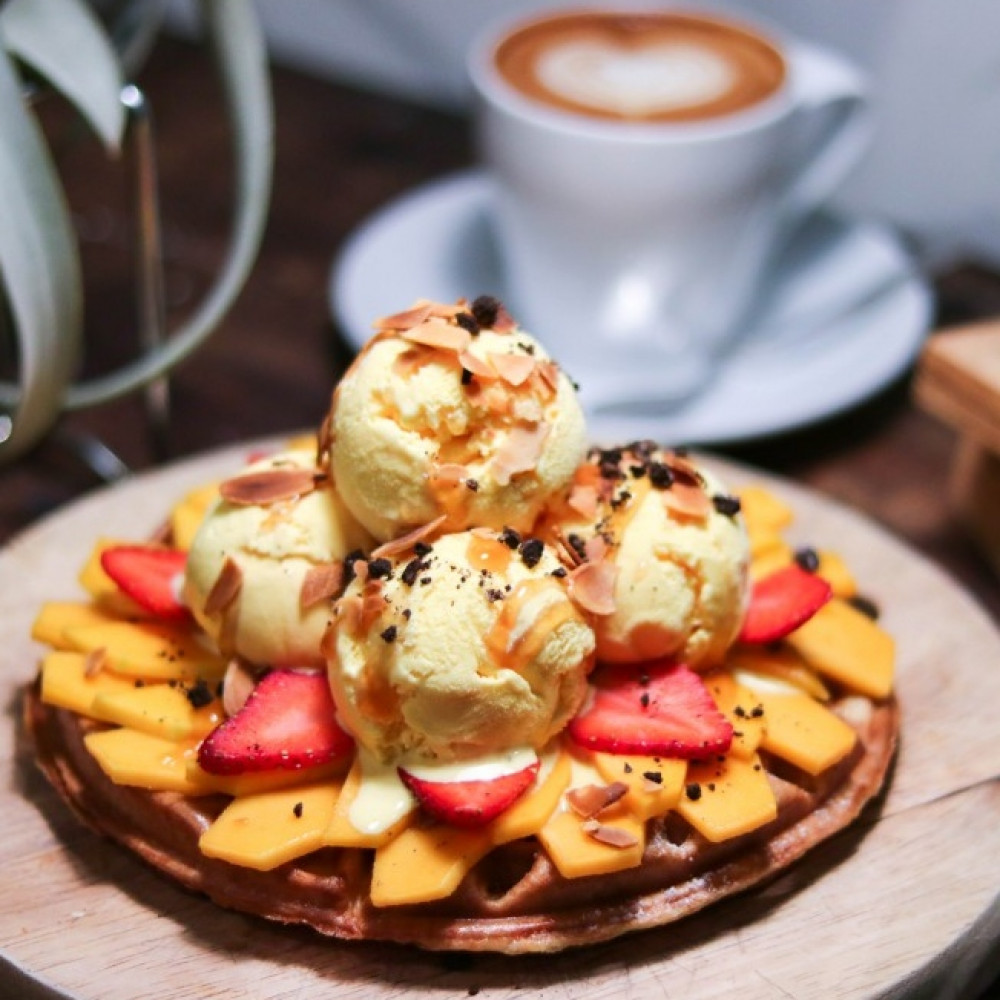 Coffee and Waffle Set for 1 person