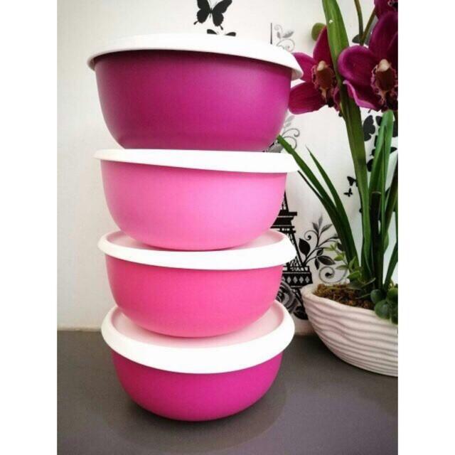 Tupperware Pink Blossom Bowl