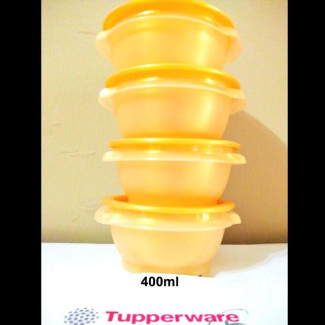 Tupperware Golden Prosperity One Touch Bowl (4pcs x 400ml)