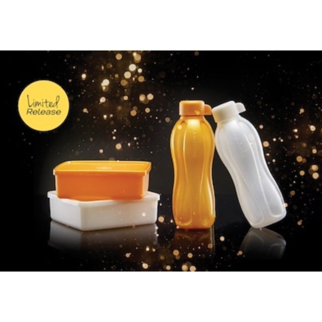image of Tupperware Limited Edition (500ml Eco Bottle & 600ml Square Away Canisters)
