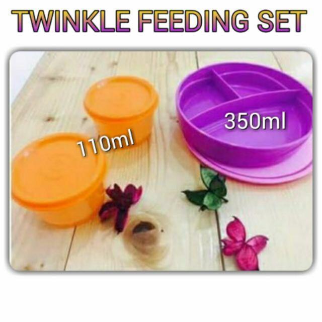 image of Tupperware Twinkle Feeding Set