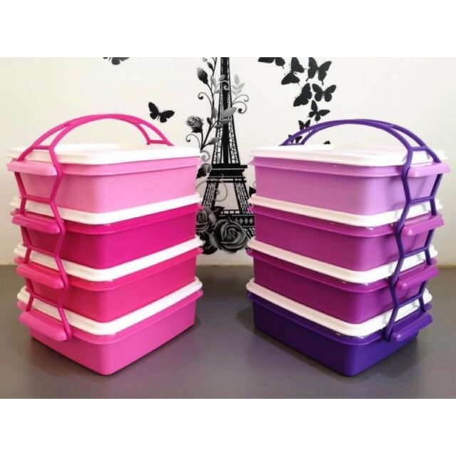 image of Tupperware Goody Box With Cariolier (4) 790ml