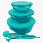 Tupperware Stackable (3) with Spoon & Fork