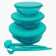 image of Tupperware Stackable (3) with Spoon & Fork