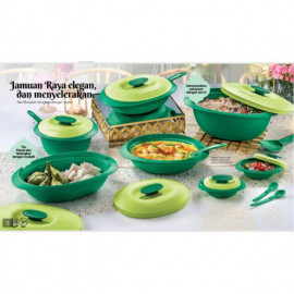 image of Tupperware Emerald Serving Set