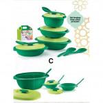 Tupperware Emerald Serving Set