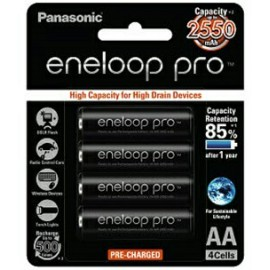 image of Panasonic Eneloop Pro AA Rechargeable 2550mAh Battery