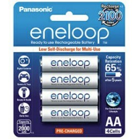 image of Panasonic Eneloop AA Rechargeable Battery 2100mAh