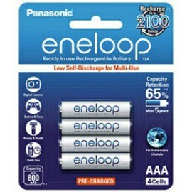 image of Panasonic Eneloop AAA Rechargeable Battery 800mAh