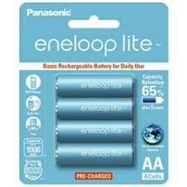 image of Panasonic Eneloop Lite AA Rechargeable Battery 1000mAh