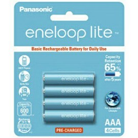 image of Panasonic Eneloop Lite AAA Rechargeable Battery 600mAh