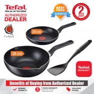 image of PREMIUM Tefal Super Cook 3 piece Non Stick Set 28cm Deep Frypan + 20cm Frypan + Spatula